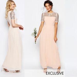 ASOS Maya Tall Chiffon Embellished Maxi Dress SZ 6